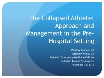 The Collapsed Athlete - Alpert Medical School
