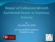 Repair of Collapsed 60-inch Combined Sewer in ... - IndianaWEA.org