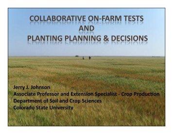 Jerry Johnson - Colorado State University Wheat Breeding and ...