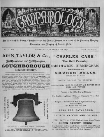 No 6. 21/10/1896, pp61-72 - Central Council of Church Bell Ringers