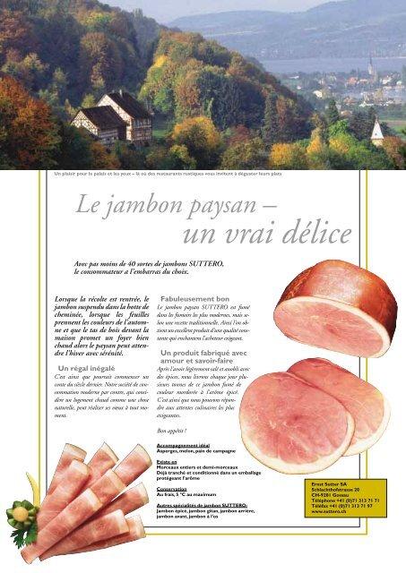 Le jambon paysan – un vrai délice