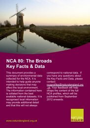 NCA 80: The Broads Key Facts & Data - Natural England