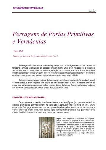 Ferragens de Portas Primitivas e Vernáculas