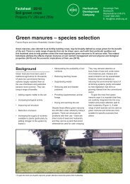 Green manures – species selection - Institute of Organic Training ...