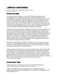 Læreplan samfunnsfag - Svenska Skolan i Genève