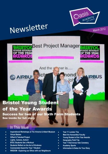 March 2012 Newsletter - Oasis Academy John Williams