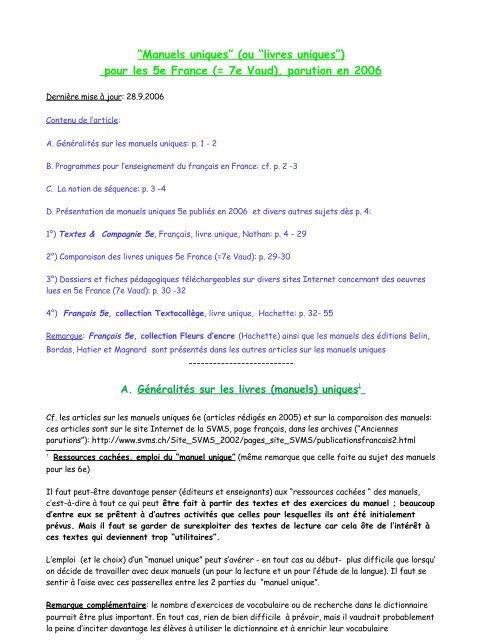 Livres Uniques 5e 7 118c5f Cwk Svms