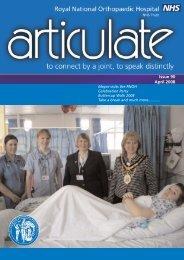 April 2008 new.qxd - Royal National Orthopaedic Hospital NHS Trust