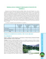 Himalayan Forest Research Institute, Shimla - ICFRE