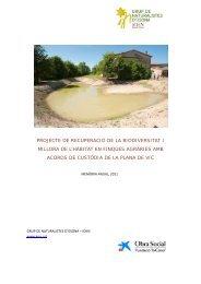 projecte de recuperació de la biodiversitat i millora de l'hàbitat en ...