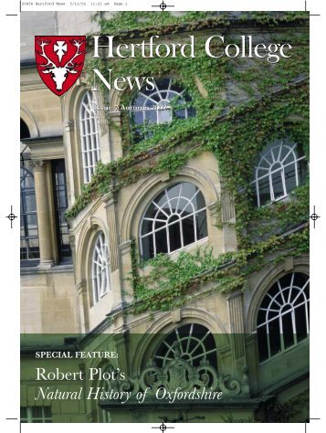 Hertford College News Hertford College News