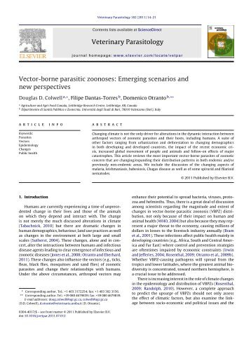 Vector-borne parasitic zoonoses: Emerging scenarios and new ...
