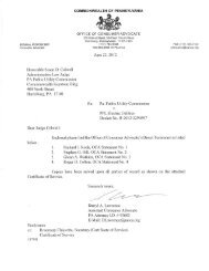 Honorable Susan D. Colwell Administrative Law Judge PA Public ...