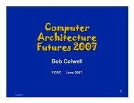 Computer Architecture Futures 2007
