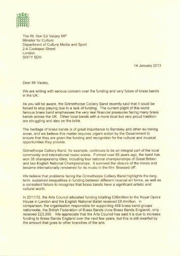 written a joint letter - Michael Dugher