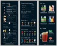NoN-alcoholic cocKTailS claSSic cocKTailS loNG ... - Sports Cafe