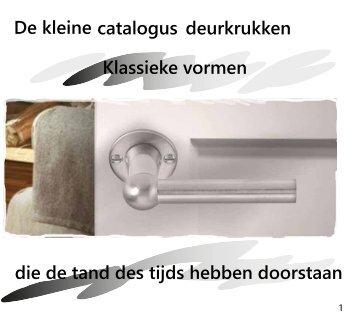 De kleine deurkrukken catalogus die de tand des ... - H. vd Boogaard