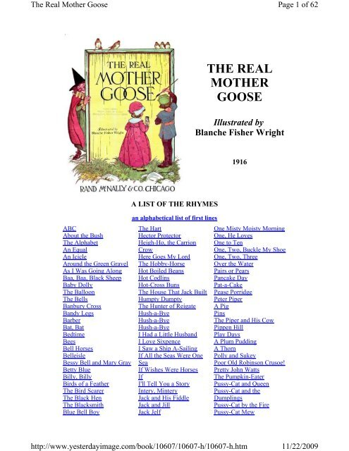THE REAL MOTHER GOOSE - Yesterday Image