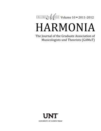 Harmonia 10 - UNT College of Music - University of North Texas