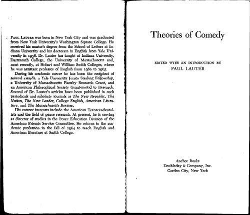 Northrop Frye- The Argument of Comedy - Facultad De Humanidades