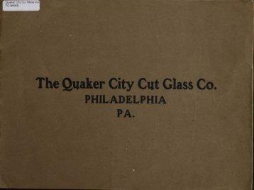The Quaker City Cut Glass Co. E PHILADELPHIA PA. - Corning ...