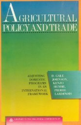 Agricultural Policy and Trade - Trilateral Commission