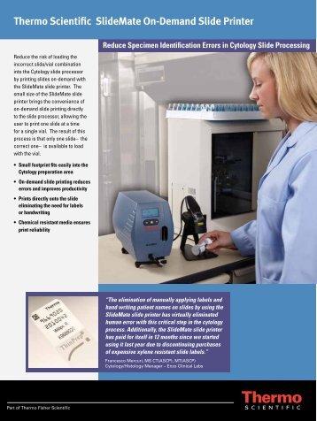 Thermo Scientific SlideMate On-Demand Slide Printer - Cellab