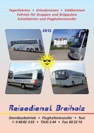 Tagesfahrten ? Urlaubsreisen ? Städtereisen Fahrten ... - Taxi Breiholz