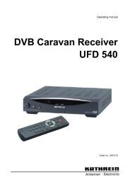 9362588a, Operating Manual DVB Caravan Receiver ... - Kathrein