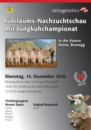 Jubiläums-Nachzuchtschau mit Jungkuhchampionat - Swissgenetics
