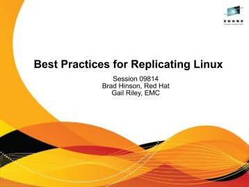 Best Practices for Replicating Linux - Red Hat People