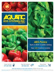 PDF of the AES Ponics Catalog - Aquatic Eco-Systems