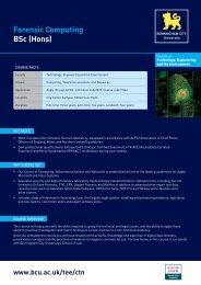 Forensic Computing BSc (Hons) - Birmingham City University