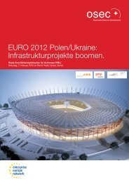 EURO 2012 Polen/Ukraine: Infrastrukturprojekte boomen. - Swissmem