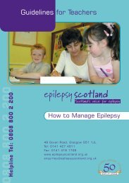 Epilepsy Guidelines for Teachers - The Moray Council