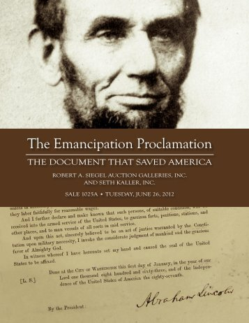 abraham lincoln emancipation proclamation+essay Free essay: he also mentions all the states in this speech that this new law and all the states this abides to at the end of this speech, he also mentions.