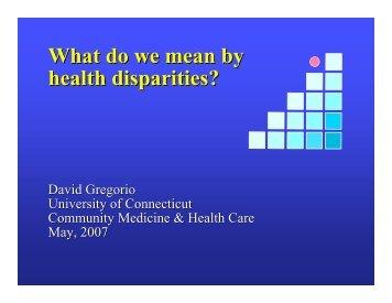 David Gregorio - University of Connecticut