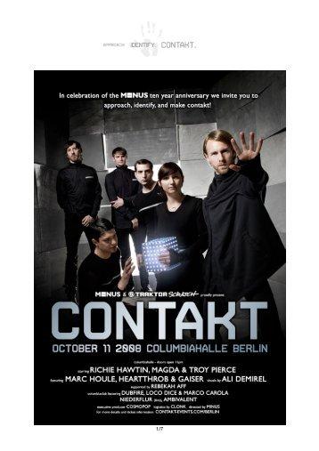 Contakt Berlin Pressemitteilung - M-Nus