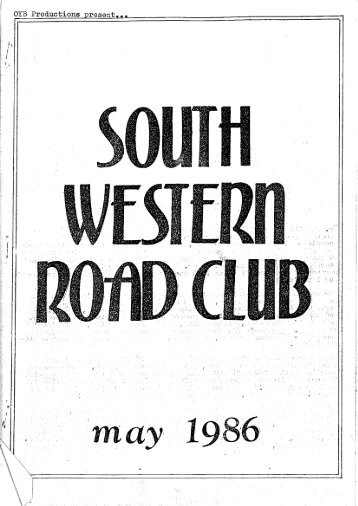 Page 2 E - SWRC Cycling club