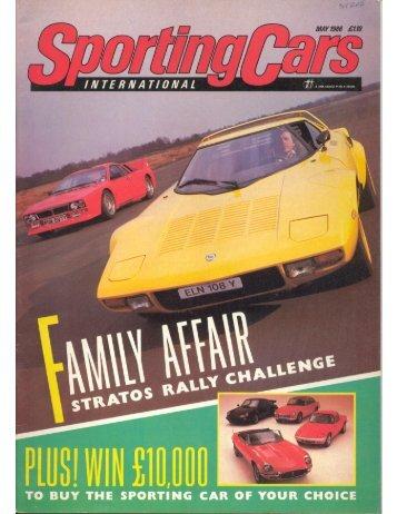 Sporting Cars May, 1986 Lancia Stratos
