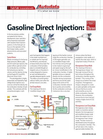 Gasoline fuel injection system k jetronic for Institute of the motor industry
