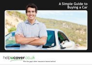 A Simple Guide to Buying a Car - helpucover