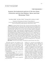 Isozyme electrophoresis patterns of the liver fluke, Clonorchis ...