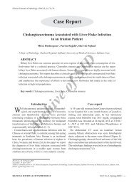 Cholangiocarcinoma Associated with Liver Fluke Infection in an ...