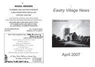 EVNApr2007 - Eastry Parish Council Website