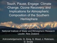 Olaf Morgenstern - The Centre for Australian Weather and Climate ...