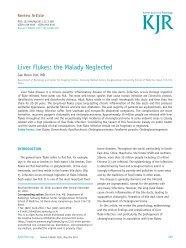 Liver Flukes: the Malady Neglected - KoreaMed Synapse