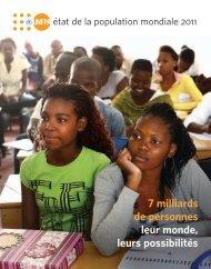7 milliards de personnes leur monde, leurs possibilités - UNFPA