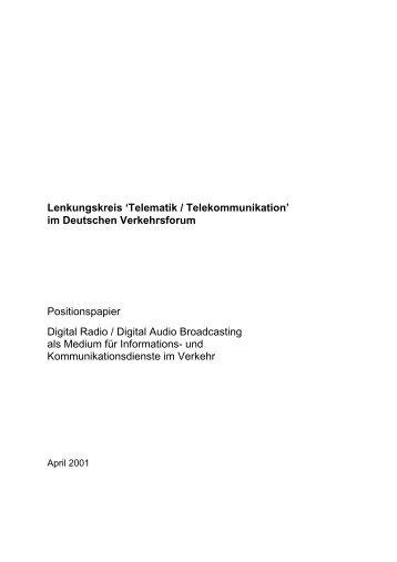Lenkungskreis 'Telematik / Telekommunikation' im Deutschen ...