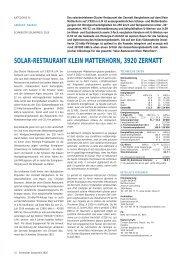 solar-restaurant klein matterhorn, 3920 zermatt - Solar Agentur ...
